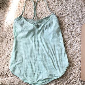 lululemon athletica Tops - Lululemon Sea Foam/Mint Green Striped Workout Top